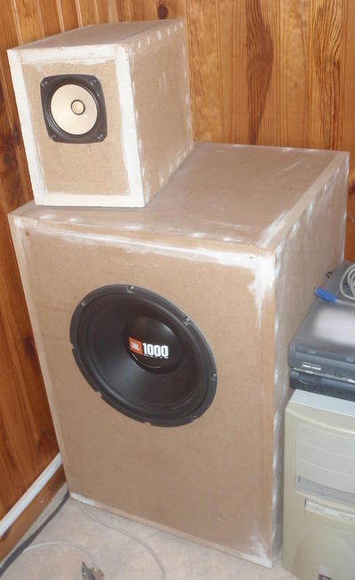 JBL GT-120.2 subwoofer enclosure & Fostex FE-127E wideband enclosure
