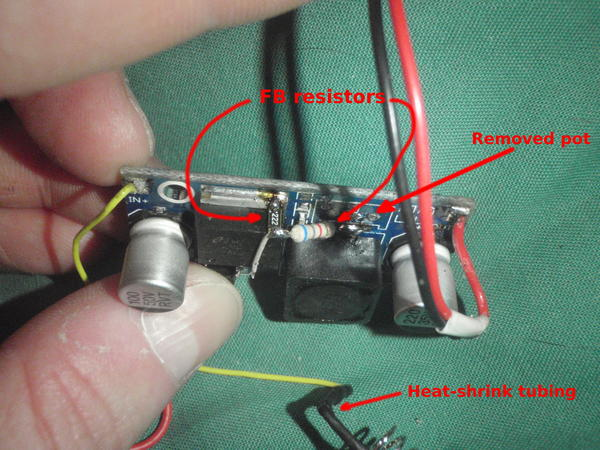 replacing the pot by two fixed resistors