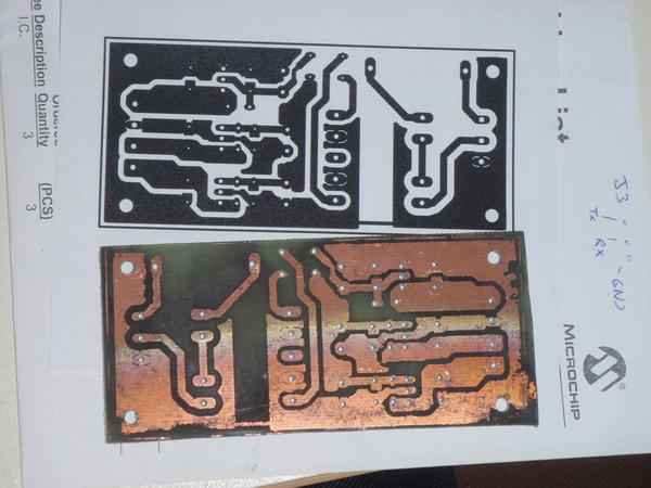 toner transfer etched PCB