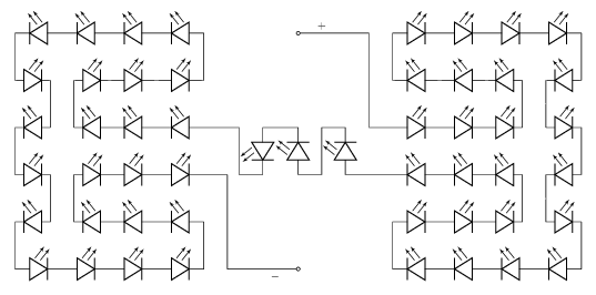 LED strip schematic