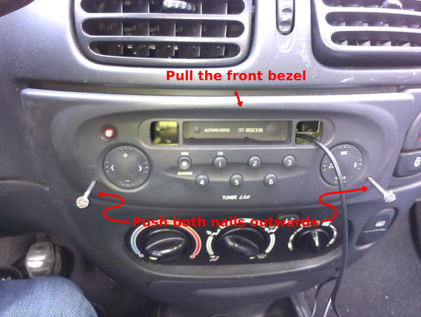 Removing the radio from the car's front panel