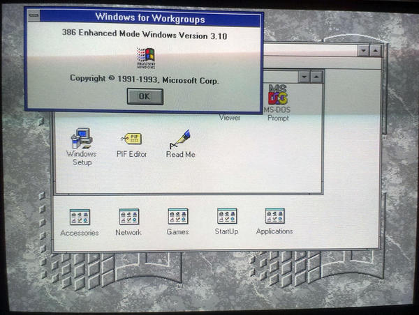 windows 3.1 installed
